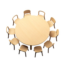 Beech Connect 71 round | Meeting room tables | DUM