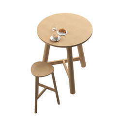 Beech Connect 100 round | Tables mange-debout | DUM