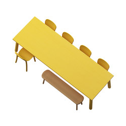 Beech Basic rectangle | Mesas de cantinas | DUM