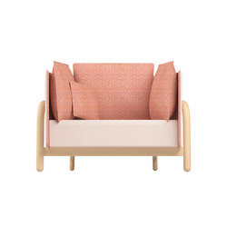 Beech Private Loveseat low | Lounge chairs | DUM