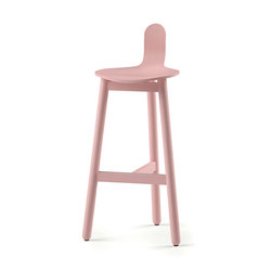 Beech Bar Stool 75 low | Bar stools | DUM