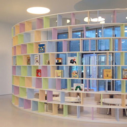 Arch bookshelf | Office shelving systems | PLAY+