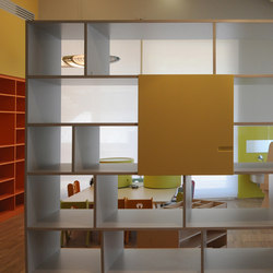 "Bifacial ""in linea"" bookshelf 