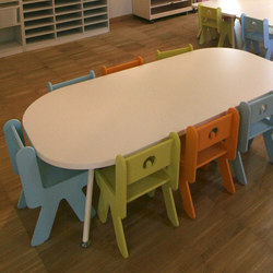 Table rectangular top | Tables d'école/Pupitres | PLAY+