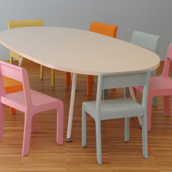 Table oval top | Tables d'école/Pupitres | PLAY+