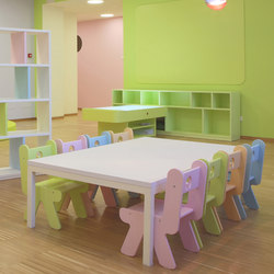 Table rectangular top | Classroom desks | PLAY+