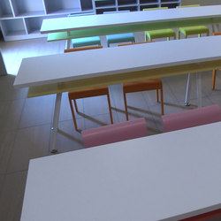 Table rectangular top | Klassenzimmertische | PLAY+
