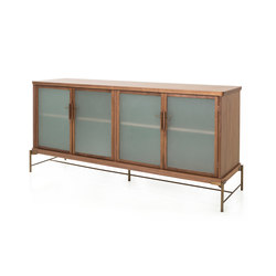Dowry Cabinet II Frosted Glass | Display cabinets | Stellar Works