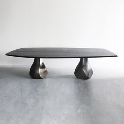 Pukka table with 2 bases | Dining tables | Van Rossum