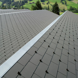 Swisspearl® Roof slate cement composite | Concrete/cement slabs | Eternit (Schweiz) AG