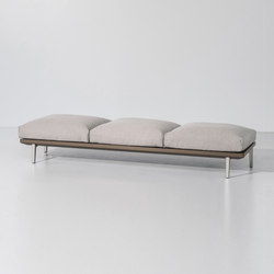 Boma bench 3-seater | Garden benches | KETTAL