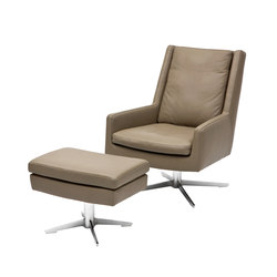 Gerry Loungechair with footrest | Poltrone | Christine Kröncke