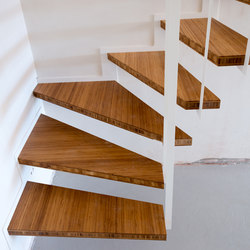 Up suspended staircase quarter turn | Escaleras de madera | Jo-a