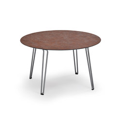 Slope Table, 120 ø, Tabletop HPL | Tables de repas | Weishäupl
