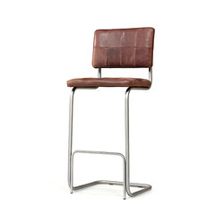 Nelson brushed stainless steel barstool without arms | Barhocker | Jess