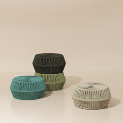 Objects zigzag pouf | Taburetes | KETTAL