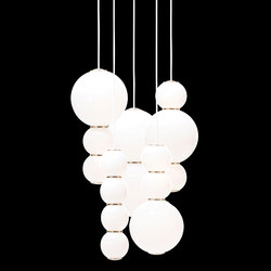 Pearls Chandalier 5 - ABCDE | Suspended lights | Formagenda