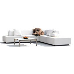 Happy Combination with two long elements and an ottoman | Garden sofas | Rausch Classics