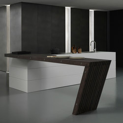 Blade 3 white Fenix island | Fitted kitchens | Modulnova