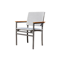 Long Beach Stacking chair with seat and back cushions | Chairs | Rausch Classics