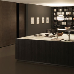 Float 1 square island in Rovere Fumo | Fitted kitchens | Modulnova
