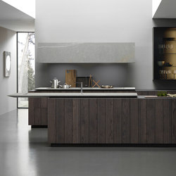 Float 2 arrangement with partition system | Fitted kitchens | Modulnova