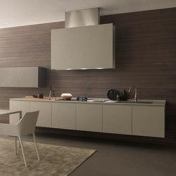 Twenty 2 linear kitchen in resin | Einbauküchen | Modulnova