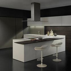 Light 1 en angle finition laquée Bianco | Cuisines intégrées | Modulnova