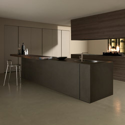 Mh6 2 Lava melamine island | Fitted kitchens | Modulnova