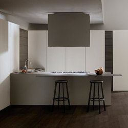 Mh6 3 corner kitchen in Cendre melamine | Fitted kitchens | Modulnova
