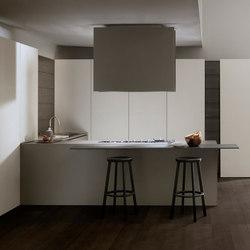Mh6 3 corner kitchen in Cendre melamine | Cocinas integrales | Modulnova