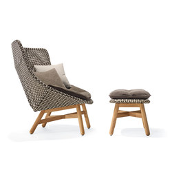 Mbrace Lounge chair & Footstool | Garden armchairs | DEDON