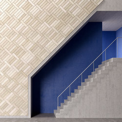 BAUX Acoustic Tiles Plank - Stairway | Wood panels | BAUX