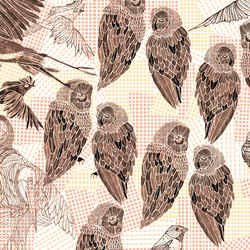 PENCIL BIRDS | Wall coverings / wallpapers | Wall&decò