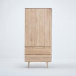 Fawn wardrobe | hanger & shelves | 90x45x200 | Cabinets | Gazzda