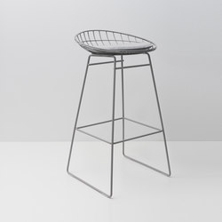 Wire stool KM07 | Barhocker | Pastoe