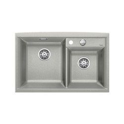 BLANCO AXIA II 8 | SILGRANIT Pearl Grey | Kitchen sinks | Blanco