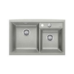 BLANCO AXIA II 8 | SILGRANIT Pearl Grey | Fregaderos de cocina | Blanco
