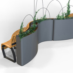 Radius Planter Divider | Privacy screen | Green Furniture Concept
