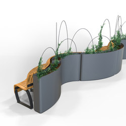 Radius Planter Divider | Éléments de séparation | Green Furniture Concept