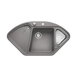 BLANCODELTA II | SILGRANIT Alu Metallic | Fregaderos de cocina | Blanco