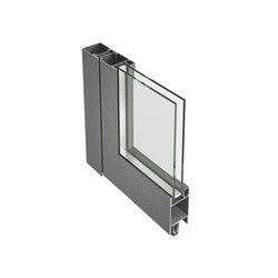 Jansen-Economy 50/60 door, steel and stainless steel | Entrance doors | Jansen