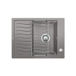 BLANCO ELON 45 S | SILGRANIT Alu Metallic | Küchenspülbecken | Blanco