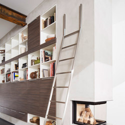 Akzent Ladder System/ Positionable Ladder | Scalette per libreria | MWE Edelstahlmanufaktur