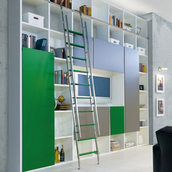 Akzent Ladder System/ Telescopic Ladder | Library ladders | MWE Edelstahlmanufaktur