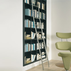 Klassik Ladder System/ Positionable Ladder | Scalette per libreria | MWE Edelstahlmanufaktur