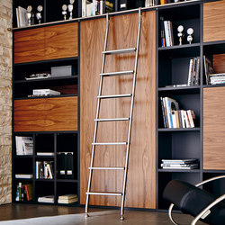 Klassik Ladder System/ Hook Ladder | Library ladders | MWE Edelstahlmanufaktur