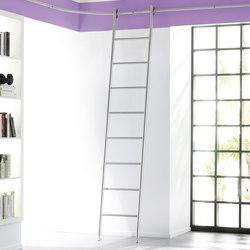 Klassik Ladder System/ Vario Ladder | Escaleras para bibliotecas | MWE Edelstahlmanufaktur