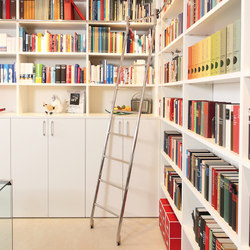 Klassik Ladder System/ Vario-Telescopic Ladder | Library ladders | MWE Edelstahlmanufaktur