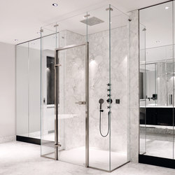 Edelstahlzarge Shower System | Shower door fittings | MWE Edelstahlmanufaktur